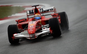 Обои Красная, Трэк, Формула