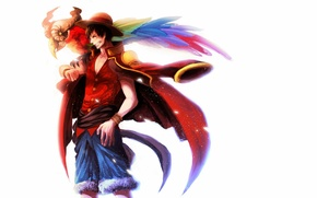 Картинка парень, anime, art, one piece, Luffy, Monkey D. Luffy