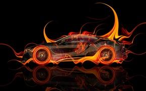 Обои Тони Кохан, Цвета, Tony Kokhan, БМВ, Black, Вид Сбоку, Оранжевые, Orange, Огненная, el Tony Cars, ...