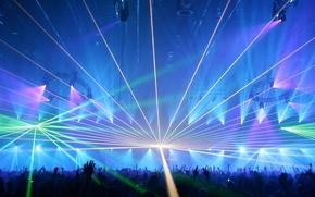 Обои лазер, шоу, концерт, музыка
