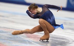 Картинка лёд, фигурное катание, изящность, РОССИЯ, Сочи 2014, XXII Зимние Олимпийские Игры, Sochi 2014, Юлия Липницкая, …