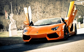 Обои Lamborghini, Ламборджини, Ламборгини, LP700-4, Aventador, Авентадор