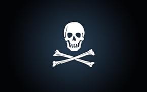 Картинка фон, кости, Пиратская эмблема