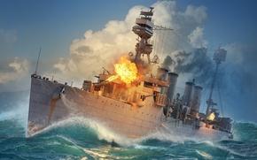 Картинка Крейсер, Wargaming Net, WoWS, World of Warships, Мир Кораблей, Мурманск