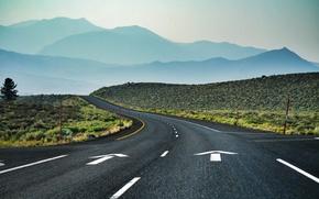 Картинка mountains, curves, Those Amazing California Roads