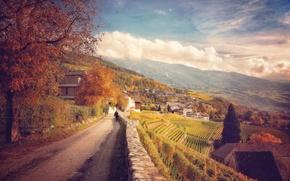 Обои италия, горы, дорога, склон