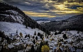 Обои горы, ночь, Muggenbrunn
