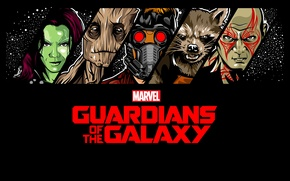 Картинка комикс, Rocket, Стражи Галактики, Guardians of the Galaxy, Gamora, Groot, Drax, Star Lord