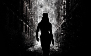 Картинка Бэтмен, Batman, Anne Hathaway, Catwoman, Энн Хэтэуэй, Женщина Кошка, Batman The Dark Knight Rises, Gotham …