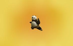 Картинка minimal, pose, kungfu, panda