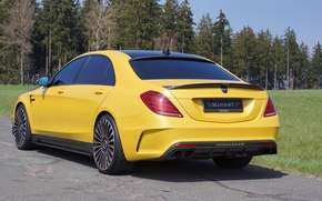 Картинка Тюнинг, Mercedes, Carbon, AMG, Yellow, Mansory, S63
