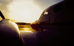 Картинка C3 Cessna, небо, самолёт