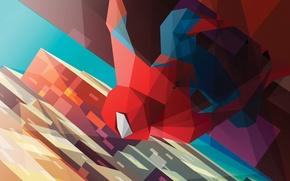 Картинка минимализм, Spider-Man, Человек-Паук