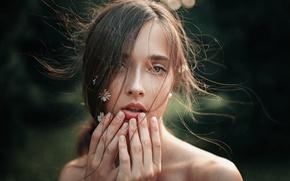 Картинка Солнце, Природа, Девушка, Лето, Ромашки, Волосы, Портрет, Вера