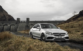 Обои 2015, mercedes, amg, c 63 s, uk-spec, w205, мерседес, амг