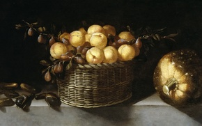 Картинка картина, Хуан ван дер Амен и Леон, Натюрморт с Фруктами и Овощами