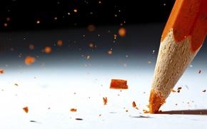 Картинка макро, оранжевый, карандаш