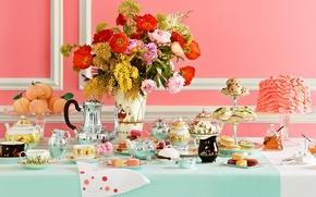 Картинка чай, кофе, еда, торт, пирожное, сладкое, afternoon tea