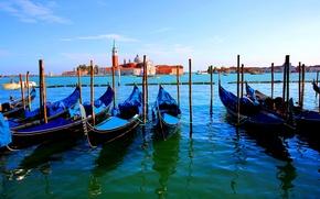 Обои Венеция, канал, лодка, Италия, гондола
