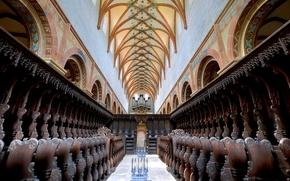Картинка Германия, зал, орган, Баден-Вюртемберг, неф, монастырь Маульбронн