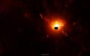 Картинка звезды, туманность, планета, свечение, nebula