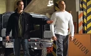 Картинка Пол Уокер, Brian O'Conner, Вин Дизель, Vin Diesel, Paul Walker, Форсаж 4 Fast furious 4, ...