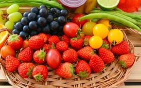 Картинка vegetables, ягоды, berries, фрукты, овощи, fresh, fruits