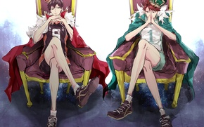 Картинка парни, волейбол, короли, Haikyuu, Ойкава Тору, Кагеяма Тобио