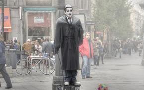 Картинка улица, человек, мим