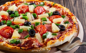 Картинка pizza, cheese, flour, ingredients, dough colors