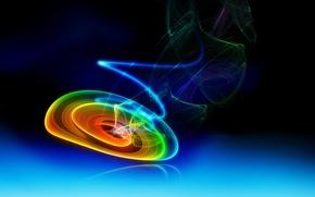 Обои спираль, разно. цветная, двух, цветов., в тоне