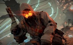 Обои обломки, пистолет, война, солдат, Killzone Shadow Fall