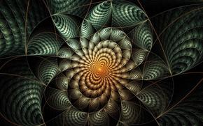 Картинка лучи, линии, узор, симметрия