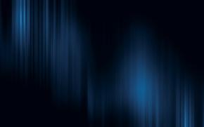 Обои свет, полоски, синий, Черный фон