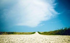 Картинка дорога, лето, небо