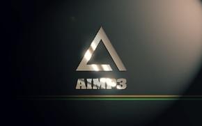 Картинка music, проигрыватель, logo, Логотип, player, AIMP3, AIMP, АИМП