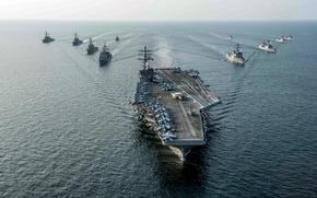 Картинка сила, USS Ronald Reagan (CVN 76), флот, оружие