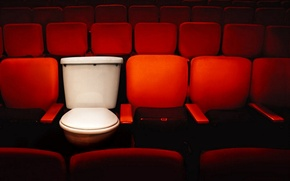Картинка кинотеатр, унитаз, сидения