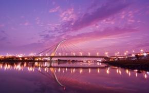 Обои тайвань, мост, закат