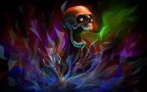 Обои por-t-falatron, inkvisition, скелет, кости, череп
