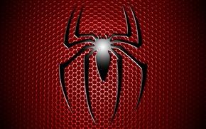 Картинка red, logo, comic, Spiderman