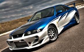 Картинка Nissan, Skyline, R33, aerografia