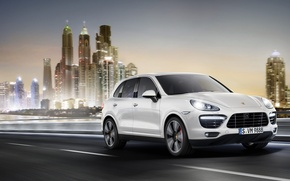 Картинка город, скорость, порш, cayenne, Porsche Cayenne, кайен