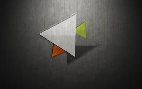 Картинка цвет, ткань, холст, треугольник