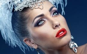 Картинка Girl, Beautiful, Brunette, Makeup