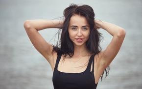 Картинка взгляд, девушка, лицо, волосы, Vika