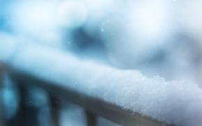 Картинка зима, макро, снег, фото, фон, обои