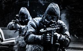 Картинка оружие, люди, маски