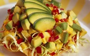 Картинка еда, перец, фрукты, овощи, капуста, вкусно, авокадо