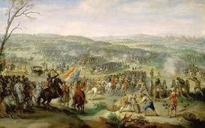 Картинка масло, картина, холст, «Сражение на Белой Горе близ Праги», Питер Снайерс, фламандский художник-баталист